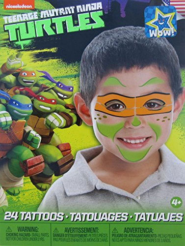Teenage Mutant Ninja Turtles Mask Children Temporary Tattoos - Michelangelo