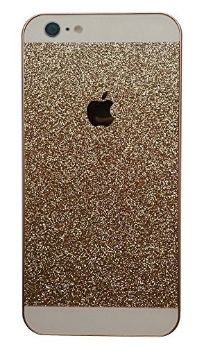 5C Case, I'EXCEL Luxury Beauty Hybrid Hard PC Shiny Bling Glitter Sparkle with Crystal Rhinestone Cover Case for iphone 5C (Gold)