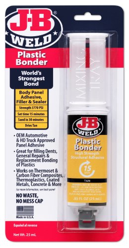 J-B Weld 50133 Plastic Bonder Structural Adhesive Syringe - Dries Tan - 25 ml (Carbon Fiber Repair compare prices)