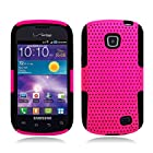 3-in-1 Bundle For Samsung Illusion/Galaxy Proclaim-APEX Mesh Dual- Layer Hard/Gel Hybrid Kickstand Armor Case (Hot Pink/Black)+ICE-CLEAR Screen Protector Shield(Ultra Clear)+Touch Screen Stylus
