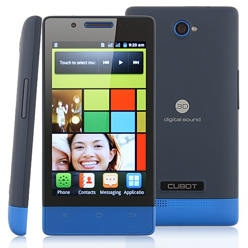 CUBOT C9 Unlocked Smart Phone Android 2.3 OS SC6820 1.0GHz 4.0 Inch 3.0MP Camera Dual Core Dual SIM Card Dual... Black Friday & Cyber Monday 2014
