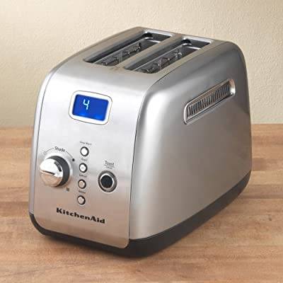KitchenAid KMT223CU 2-Slice Toaster with One-Touch Lift/Lower and Digital Display - Countour Silver by KitchenAid