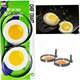 Kitchen Craft Stainless Steel Round Egg Rings- card of two