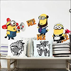 Great Value Wall Decor Despicable Me 2 Removable Wall Stickers Decal Kids Decor Home Mural Art by Mzamzi