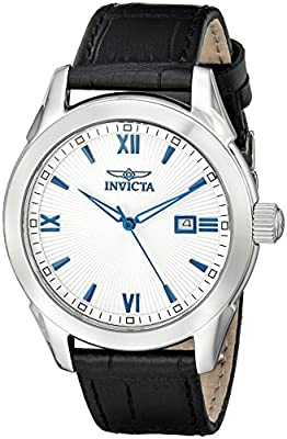 Invicta Men's 18115 Specialty Stainless Steel Watch with Black Leather Band