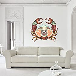 Full Color Wall Decal Mural Sticker Decor Art Beautyfull Cute Cancer Zodiac Sign (Col578)