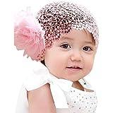 Niceroker Flower Toddlers Infant Baby Girl Princess Headband Accessories Crochet Pink