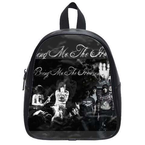 Cool Bring Me To Horizon Logo Best Choice For Christmas Gift Custom School Bag Size: Small front-124707