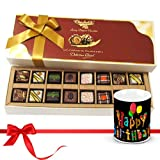 Chocholik Luxury Chocolates - Dessert Creation Of Pralines Chocolates With Birthday Mug