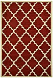 "Modela Collection Trellis Modern Area Rug Rugs (Red, 7'9""x9'10"")"