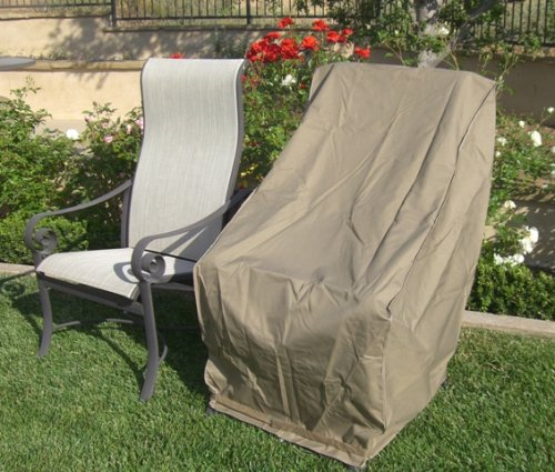 "Patio Hi Back Chair Covers with Velcro up to 42"" H"