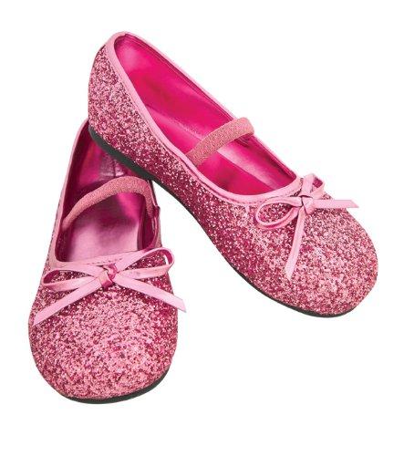 [Child's Pink Glitter Costume Flats, Small] (Princess Glitter Costumes)
