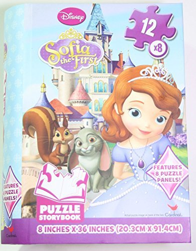 Disney Sofia the First Puzzle Storybook  (8 panels, 12 pieces each)