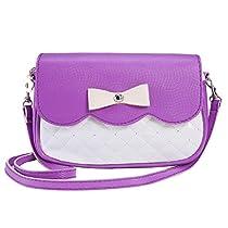 Sagton® Women's Bowknot Satchel Flap Cross Body Shoulder Bags Handbags (White)