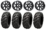 MSA Black Diesel 15″ ATV Wheels 30″ Blackwater Tires Kawasaki Teryx Mule