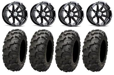 MSA Black Diesel 15″ ATV Wheels 30″ Blackwater Tires Kawasaki Teryx Mule