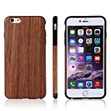iPhone 6s Case , Jin Li [Soft ] Series] - Natural Pliant Processed Wood Back Cover for Iphone 6s & Iphone 6s Case , Ultra Slim and Original Fit with Rubber Bumper