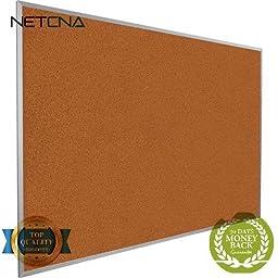 300AH Splash-Cork Tackboard (Red) - Free NETCNA Touch Screen Pen - By NETCNA