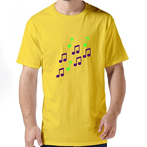 Tianyi Custom Men Music Notes Tees Sizexs Coloryellow