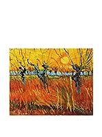 Legendarte Lienzo Salici Al Tramonto di Vincent Van Gogh