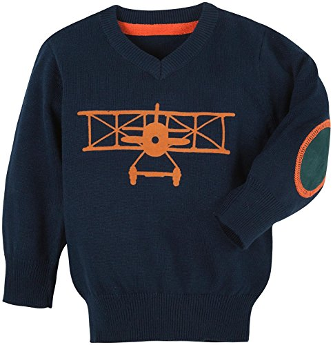 Andy & Evan Baby Boys' Navy Airplane Sweater, Navy, 3-6 Months
