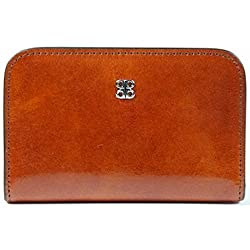 Bosca Women's Old Leather Card Case Wallet (One Size, Amber)