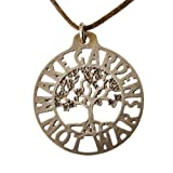 Make Gardens Not War Tree of Life Pendant Necklace (Peace Bronze)