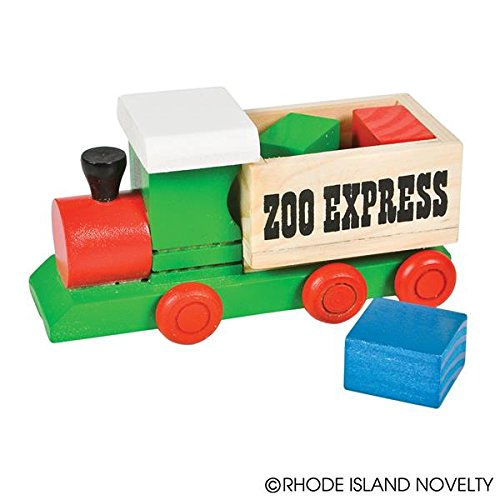 4 Piece Wooden Train And Block Set