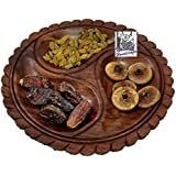 "National Handicrafts 10"" X 10"" Dry Fruit Leaf Tray Home Decor Kitchen Dinning Table Serving Fruits Gift Office"