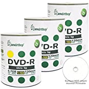 Smart Buy 300 Pack DVD-R 4.7gb 16x White Top Blank Data Video Movie Record Disc 300 Disc 300pk