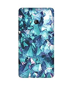 Blue Crystals Printed Back Cover Case For Microsoft Lumia N540