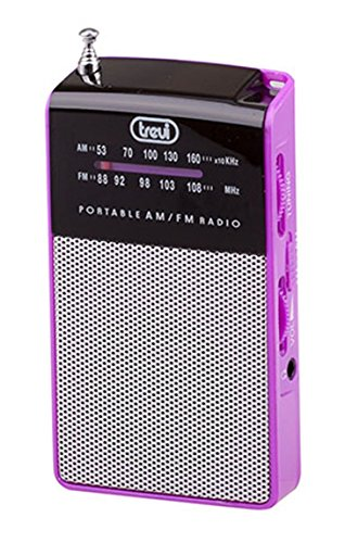 trevi-ra725-mini-am-fm-portable-radio-with-built-in-speaker-and-earphones-in-fuscia