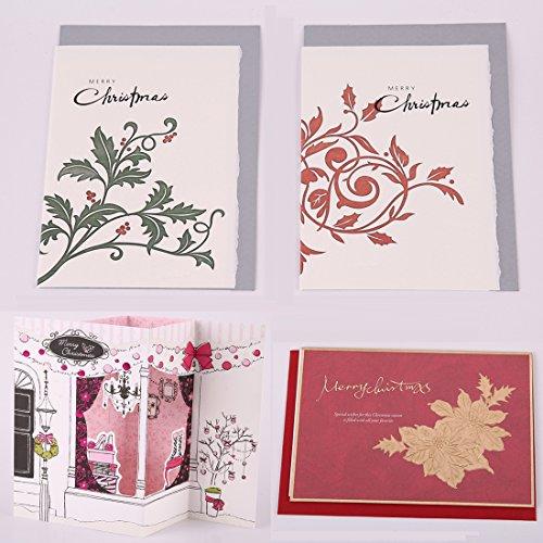 bhands weihnachtskarten klappkarten set 20 st cke in 8. Black Bedroom Furniture Sets. Home Design Ideas