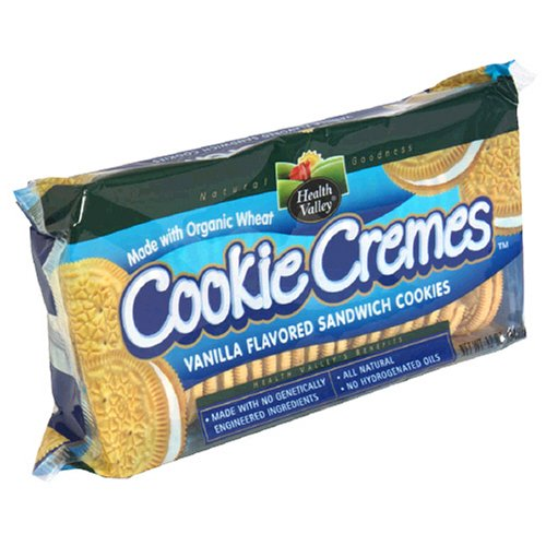 Health Valley Cookie Cremes, Vanilla Sandwich Cookies, 12-Ounce Packages (Pack of 6)