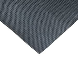 Rubber-Cal Ramp-Cleat Non-Slip Outdoor Rubber Mats - 3mm Thick x 3ft x 15ft Floor Mat