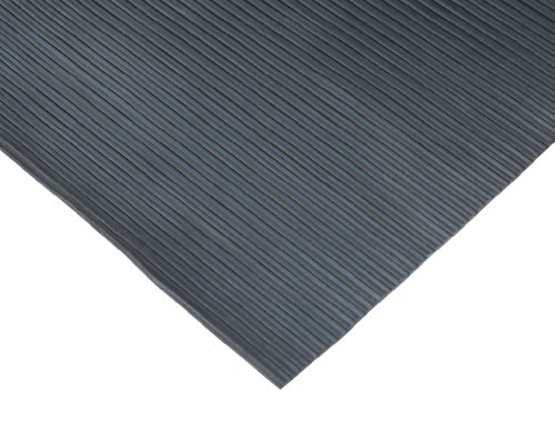 Rubber-Cal Ramp-Cleat Non-Slip Outdoor Rubber Mats - 3mm Thick x 3ft x 4ft Floor Mat