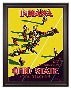 1930 Indiana Hoosiers vs Ohio State Buckeyes 36x48 Framed Canvas Historic Football... by Mounted Memories