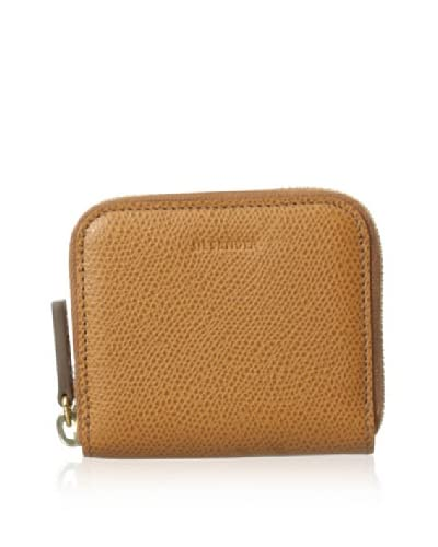 Jil Sander Women's Calf Leather Zip Coin Purse  [Cognac]