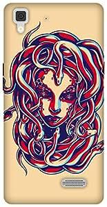 The Racoon Grip printed designer hard back mobile phone case cover for Oppo R7 Lite. (Medusa)
