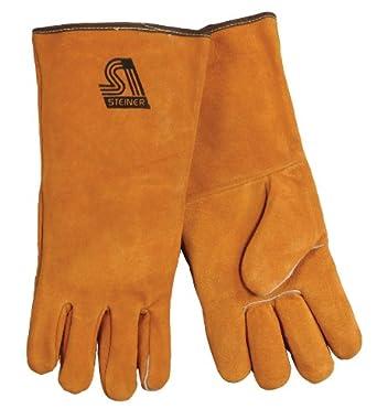 Steiner 02120 Split Cowhide Leather Welding Gloves, Large (Pack of 1 Pair)