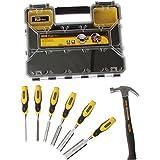 Advanced Stanley 6 Piece Chisel Set with Organiser Box & Hammer [Multi Set]w/Min 3yr Cleva® Warranty