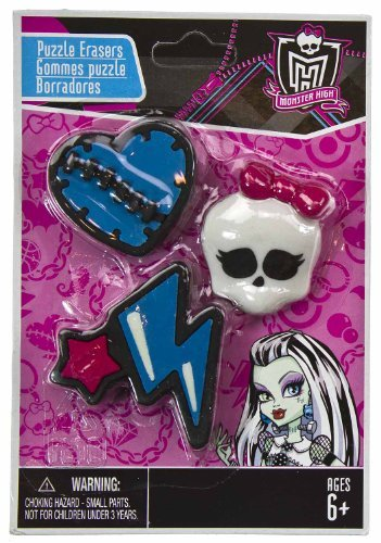 Heart Strike (3 Mini-Erasers) - Monster High Collectible Puzzle Erasers Series #1 - 1