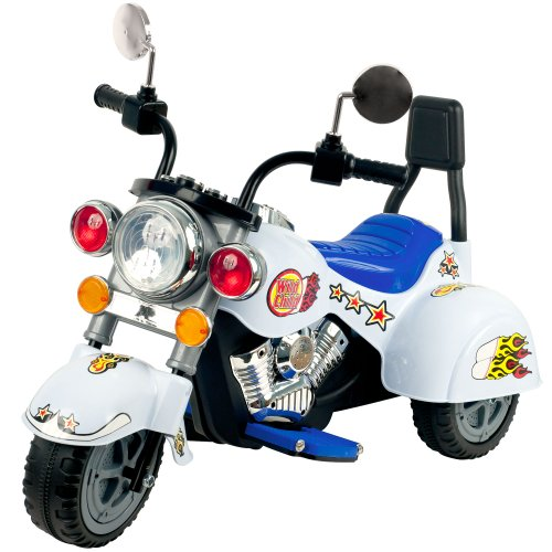 Lil' Rider White Knight 3-Wheeler Motorcycle, White front-675104