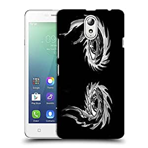 Snoogg Abstract Grey Eyes Designer Protective Back Case Cover For LENOVO VIBE P1