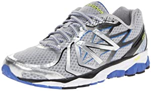 New Balance Men's M1080 Running Shoe,Silver/Blue,10.5 D US