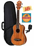 Oscar Schmidt OU5 Concert Ukulele Bundle with Gearlux Case, Austin Bazaar Instructional DVD, Clip-On Tuner, and Austin Bazaar Polishing Cloth - Hawaiian Koa