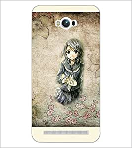 PrintDhaba Cute Girl D-2909 Back Case Cover for ASUS ZENFONE MAX ZC550KL (Multi-Coloured)