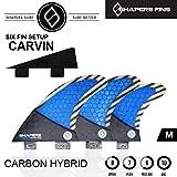 (シェイパーズ フィン) SHAPERS FIN 【CARBON HYBRID CARVN 】 FCS フィン Mサイズ TRY QUAD +ナブスター 6フィンセット 6FIN
