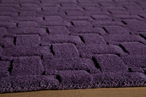 Momeni Rugs METROMT-21PLM5080 Metro Collection, 100% Wool Hand Loomed Contemporary Area Rug, 5' x 8', Plum