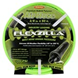 "Legacy Manufacturing HFZ3825YW2 Flexzilla 3/8"" x 25 Zillagreen Air Hose with 1/4"" MNPT Ends and Bend Restrictors"